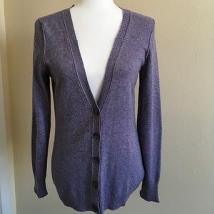 Banana Republic Heathered Purple Cardigan